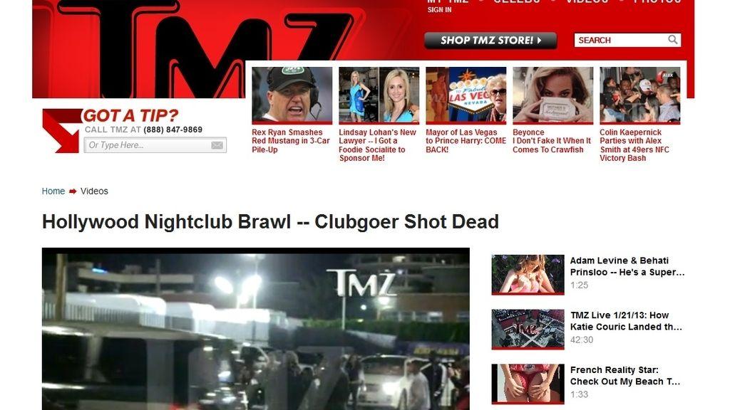 TMZ video asesinato joven