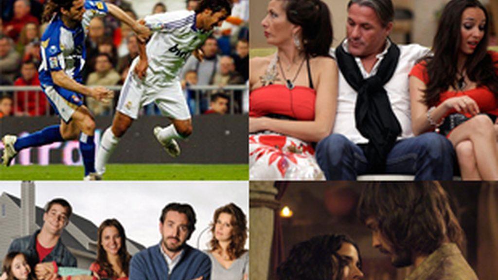 Emisiones más vistas de febrero: partido del Real Madrid, 'Gran hermano: el reencuentro', 'Los protegidos' y 'Águila Roja'.