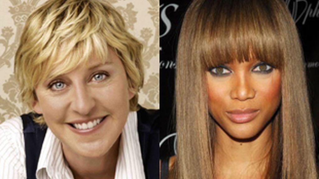 Ellen DeGeneres, izquierda, y Tyra Banks, las presentadoras más ricas de la televisión estadounidense