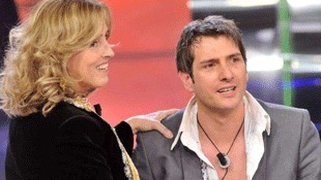Mercedes Milá e Iván, ganador de 'Gran hermano 10'.