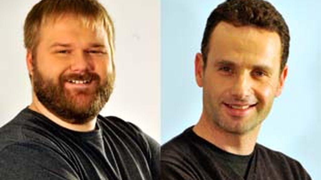 Robert Kirkman (izquierda) y Andrew Lincoln.