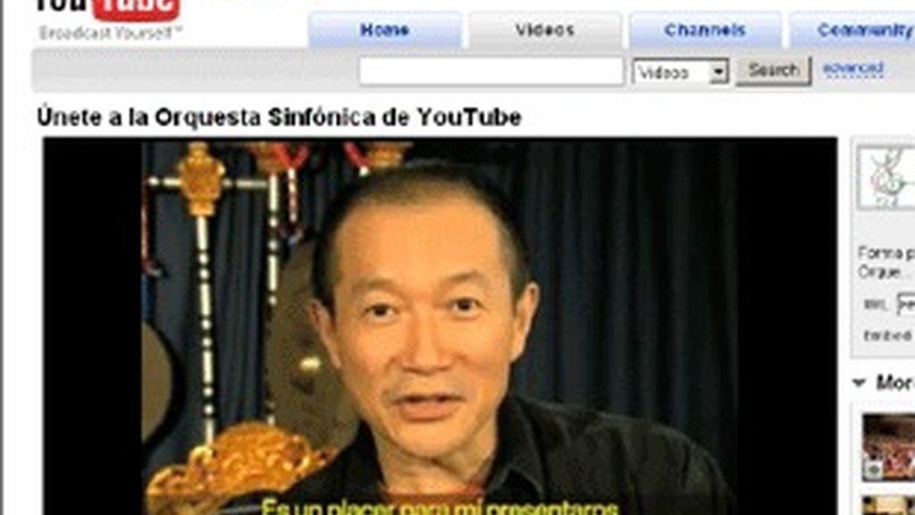 El compositor Tan Dun anima a participar en el concurso de YouTube.