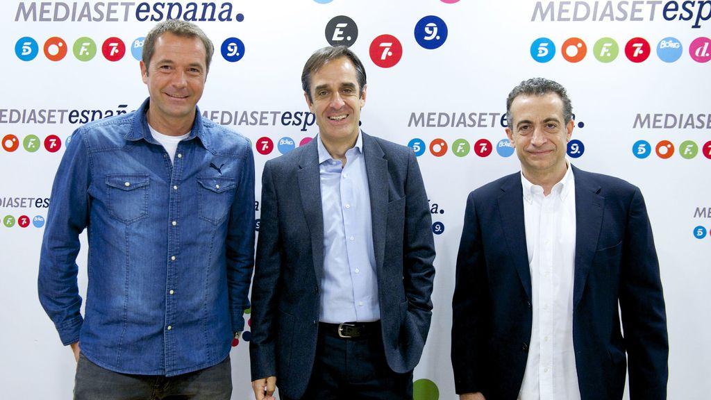 Manu Carreño, Juan Pedro Valentín y J.J. Santos