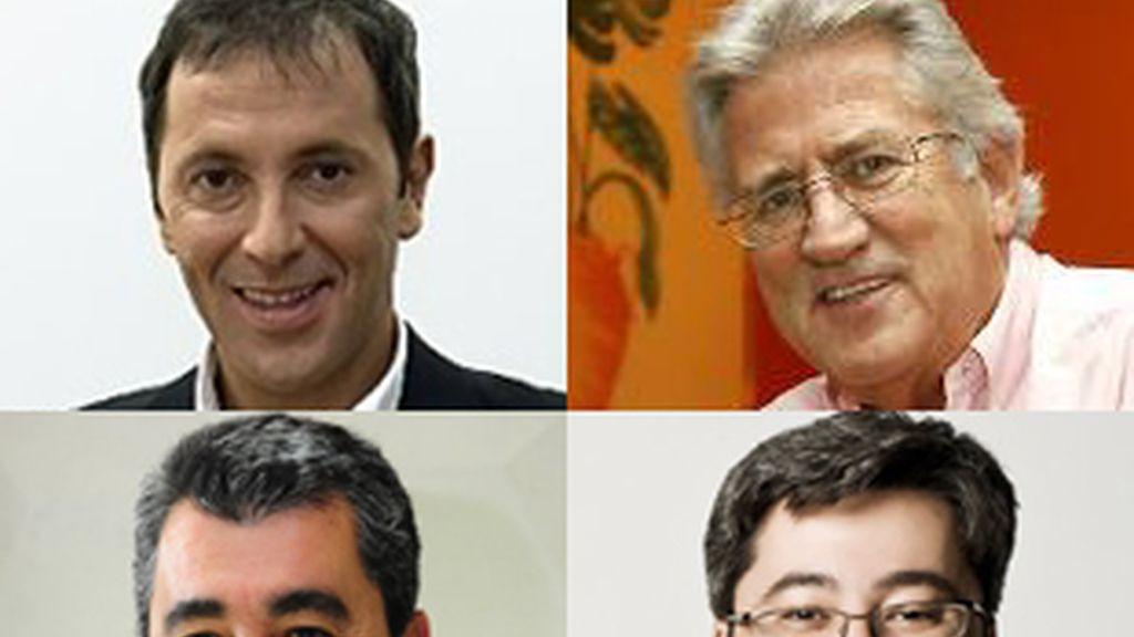 De izquierda a derecha, y de arriba a abajo, Paco González, Pepe Domingo Castaño, Javier Hoyos y Juanma Ortega.