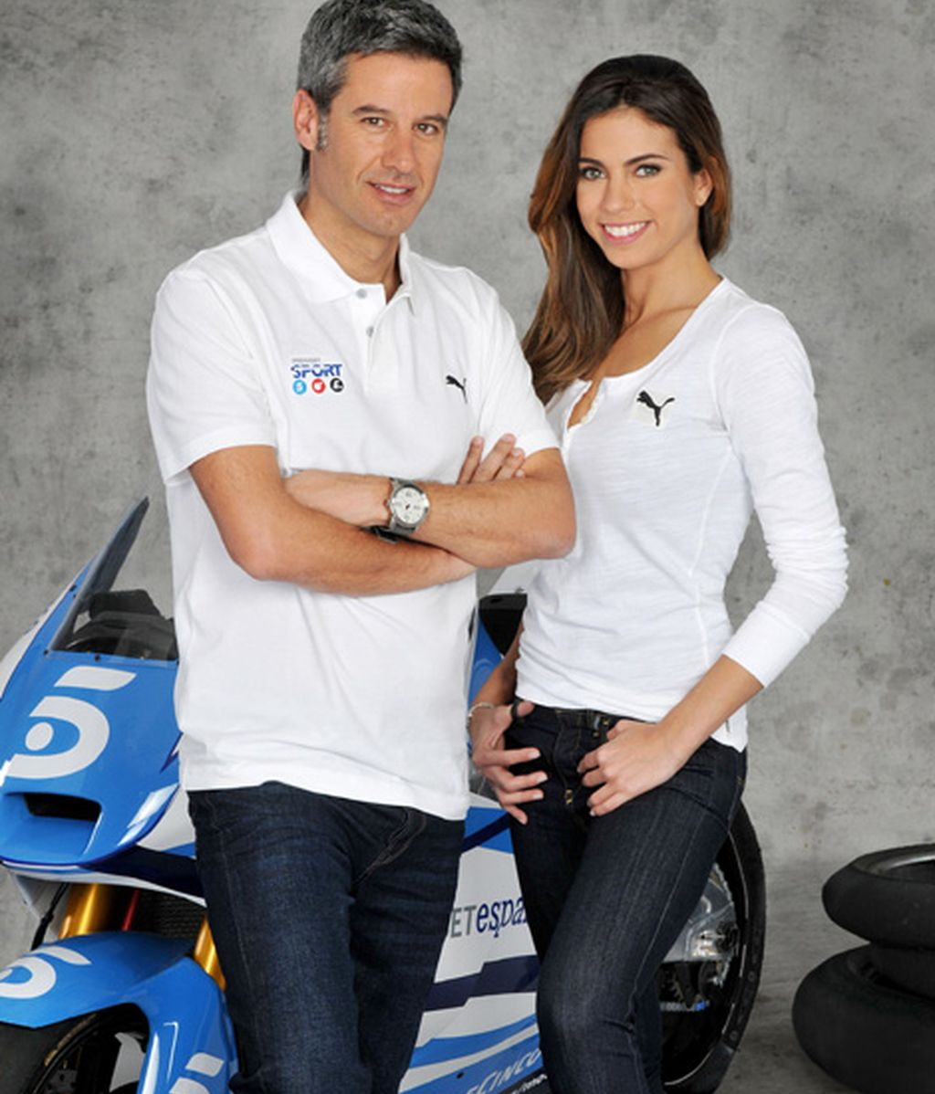 Con Nico Abad al frente de las retransmisiones y Melissa Jiménez en el 'paddock'