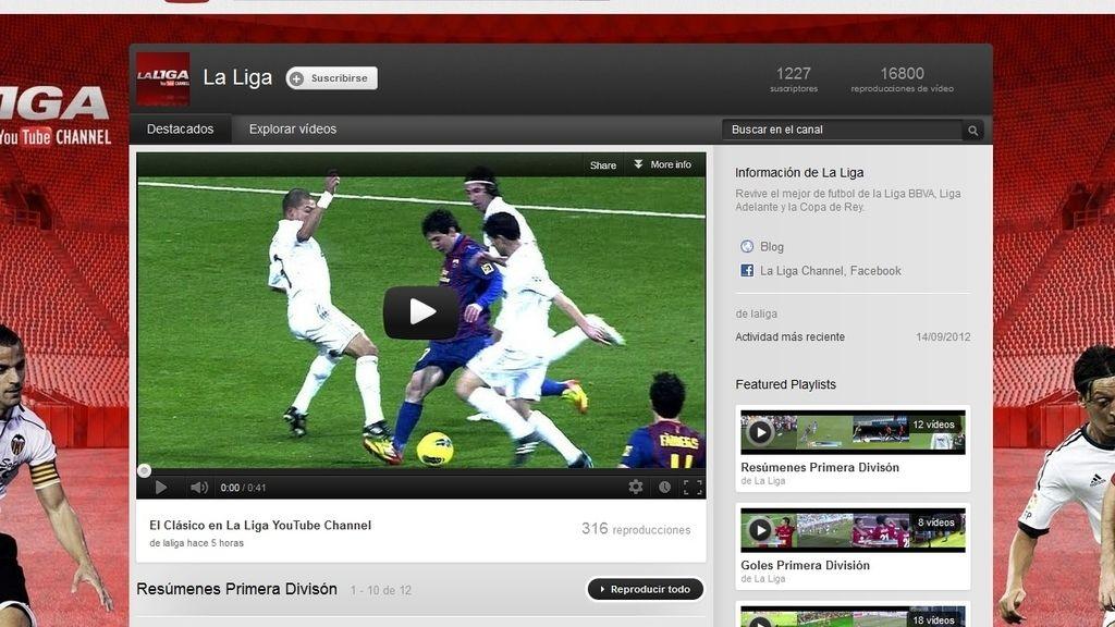 Canal de la Liga en Youtube