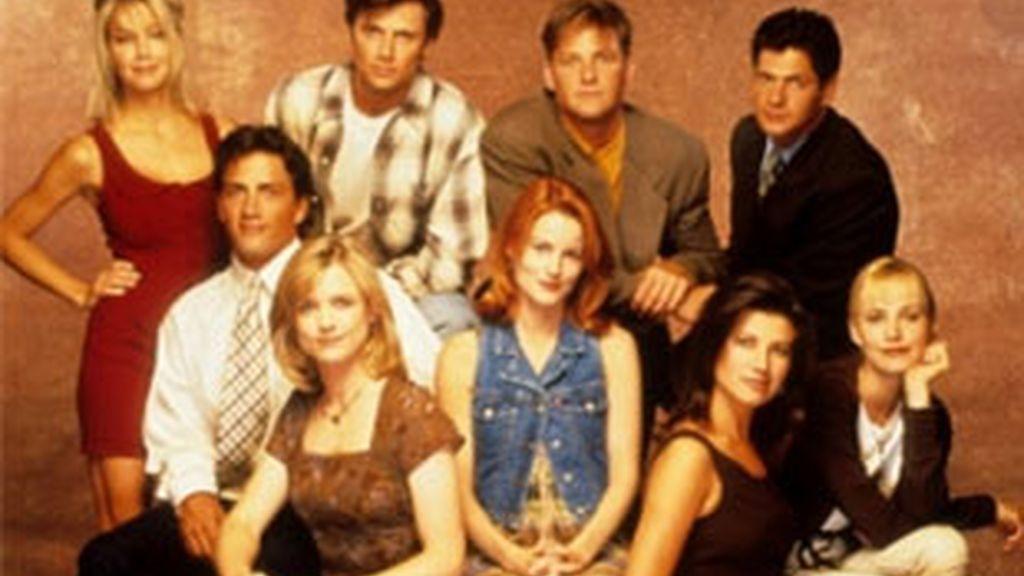 Protagonistas de 'Melrose Place'.