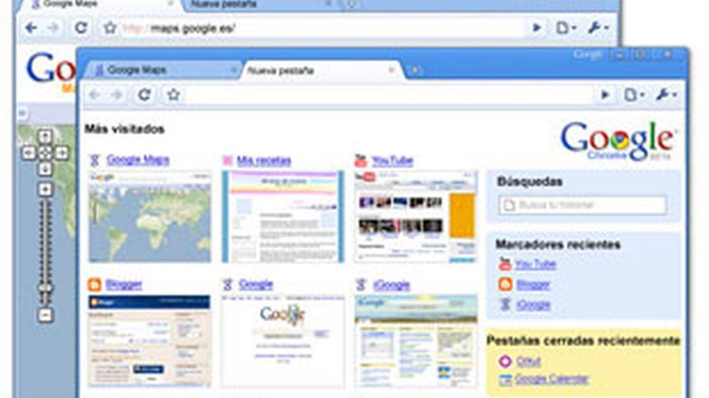 Pantallazos del nuevo navegador Chrome.