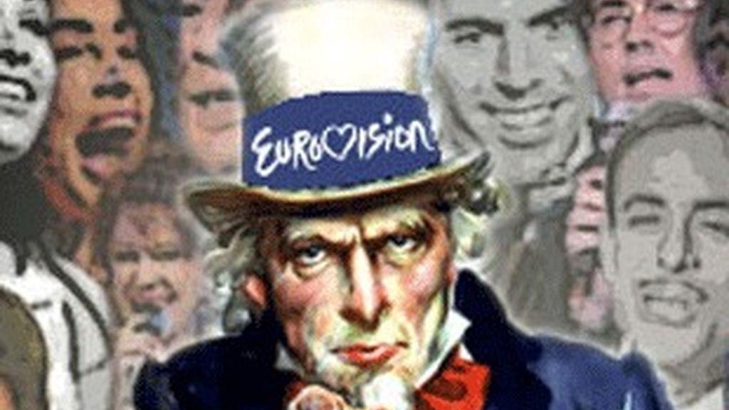 Cartel promocional de TVE para el festival de Eurovisión.