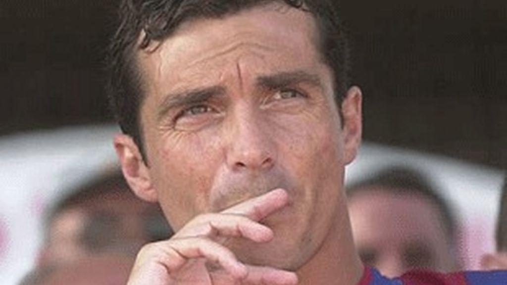 Guillermo Amor, cuando era jugador del Barça.