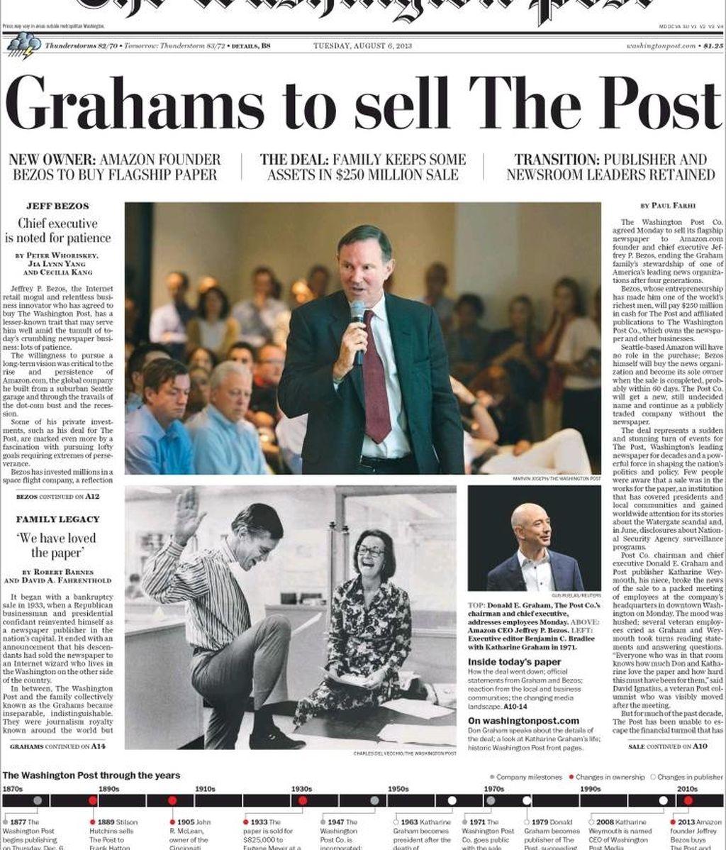 Portada Amazon compra The Washington Post