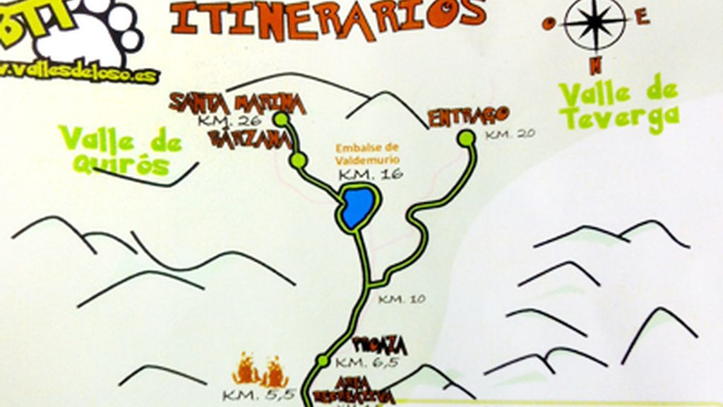 itinerario oso