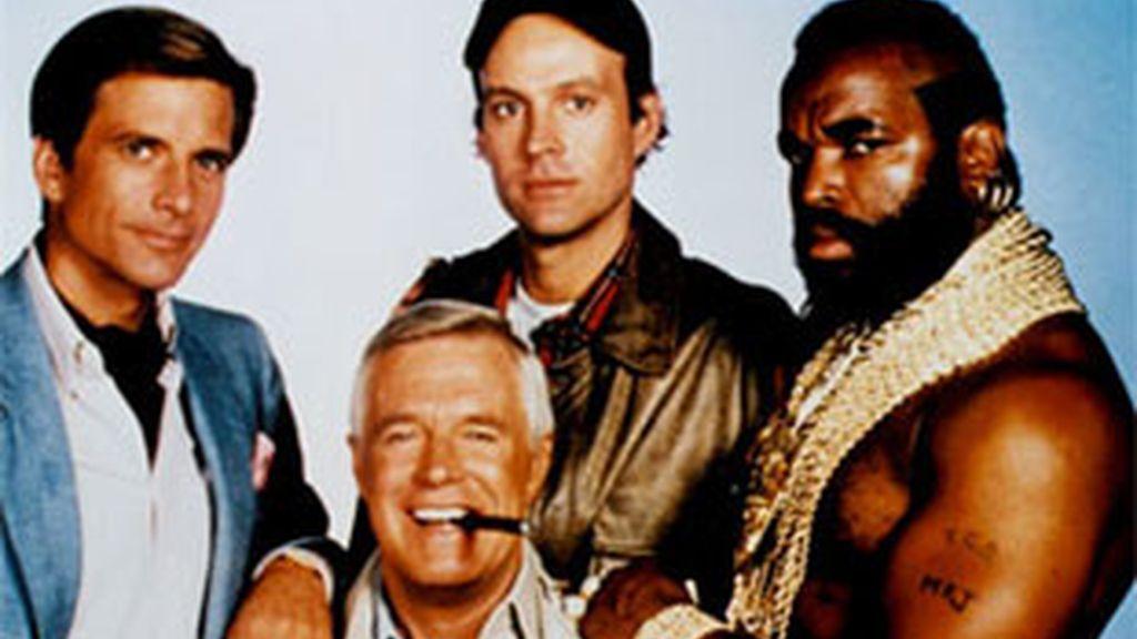 Protagonistas de la serie 'El equipo A'.
