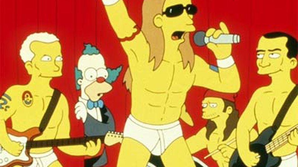 Los Red Hot Chili Peppers, en el Bar de Moe