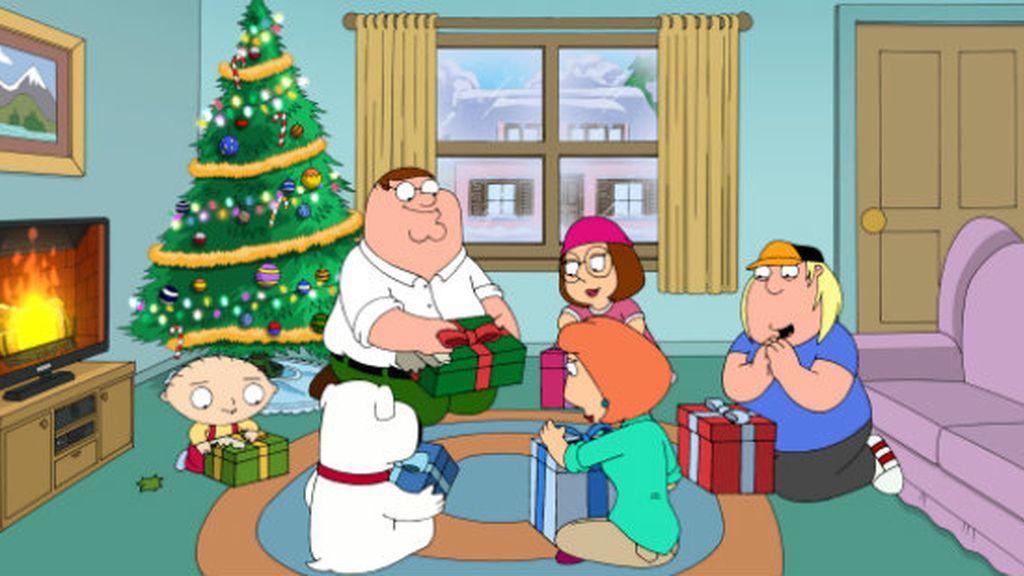 Padre de familia en Navidad