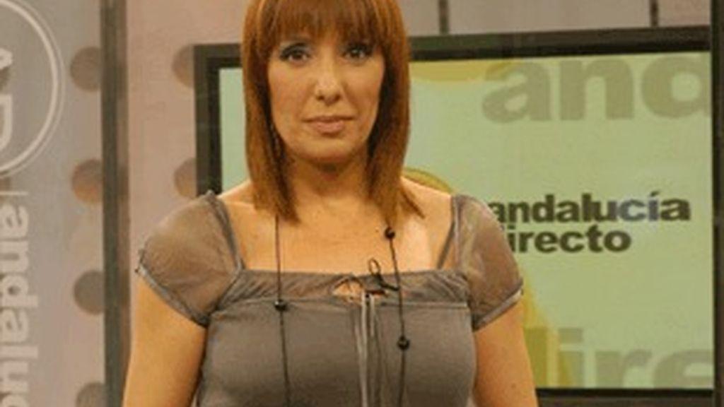 La presentadora de Andalucía directo, Blanca Rodríguez.