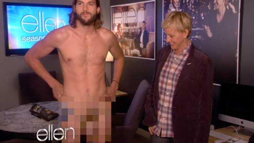 Ashton se desnuda ante Ellen