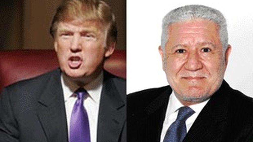Donald Trump (izquierda) y Lluis Bassat.