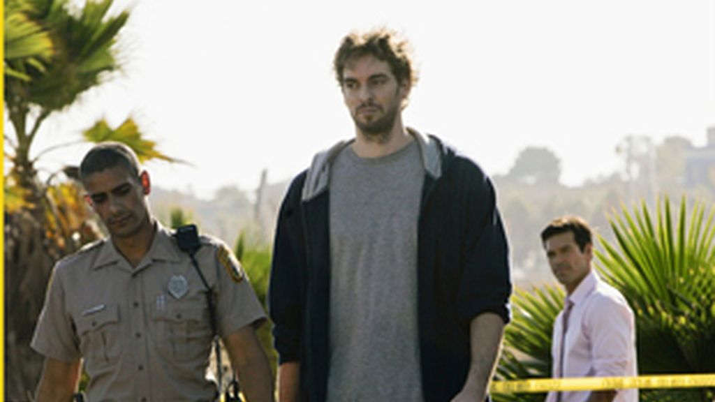 Gasol en una imagen del episodio 'Point of Impact' de 'CSI Miami'