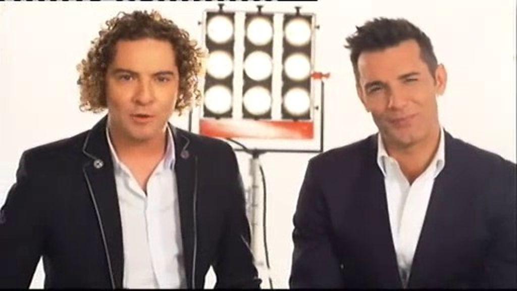 David Bisbal y Jesús Vázquez, juntos en 'La Voz' (Telecinco)