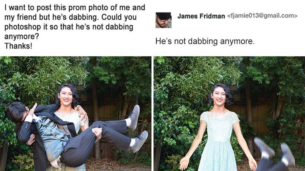 Piden a James Fridman que arregle sus fotos y el resultado les deja perplejos
