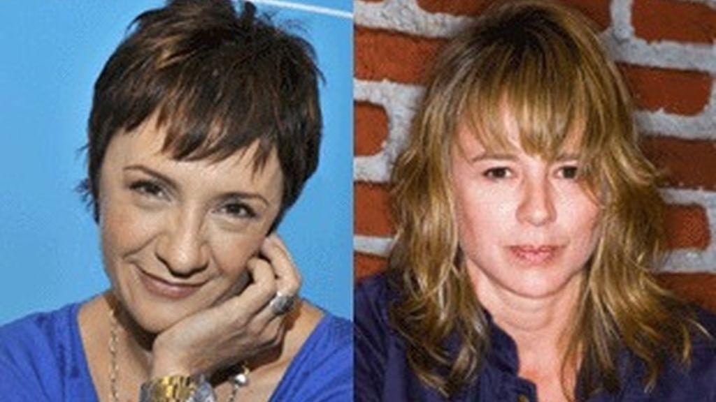 Blanca Portillo ('Acusados',Telecinco) y Emma Suárez ('Cazadores de hombres', Antena3).