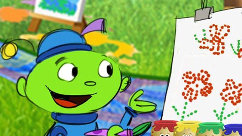 Un pequeño alien enseña a pintar a niños en 'Creative Galaxy'