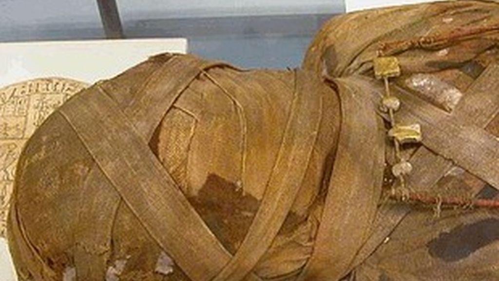 Momia embalsamada.