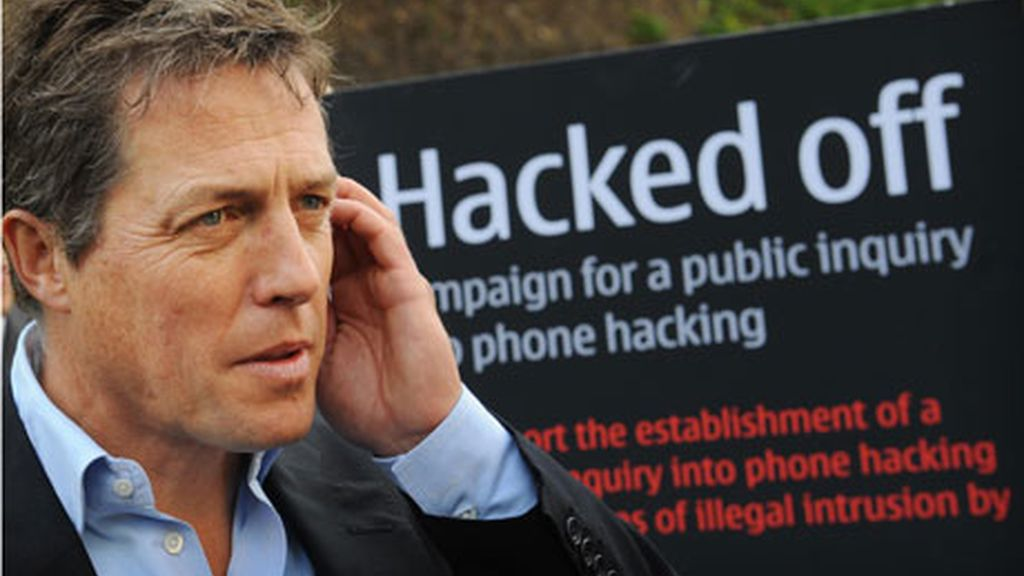 Hugh Grant abanderado 'Hacked off'