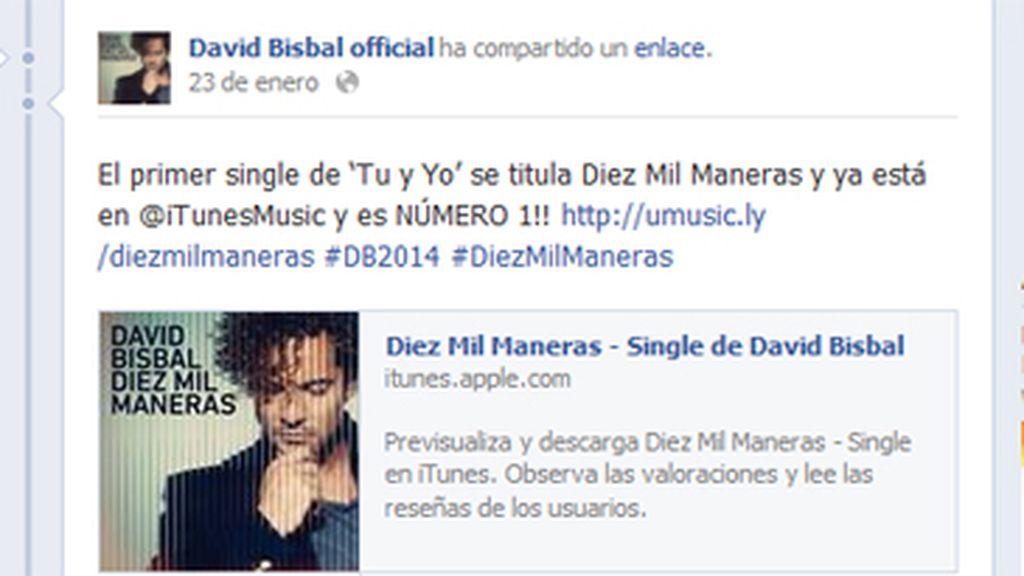 David Bisbal, top descargas, redes sociales