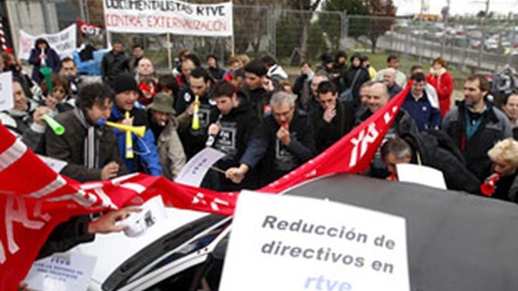 Manifestantes durante la huelga de 24 horas del 3 de marzo.