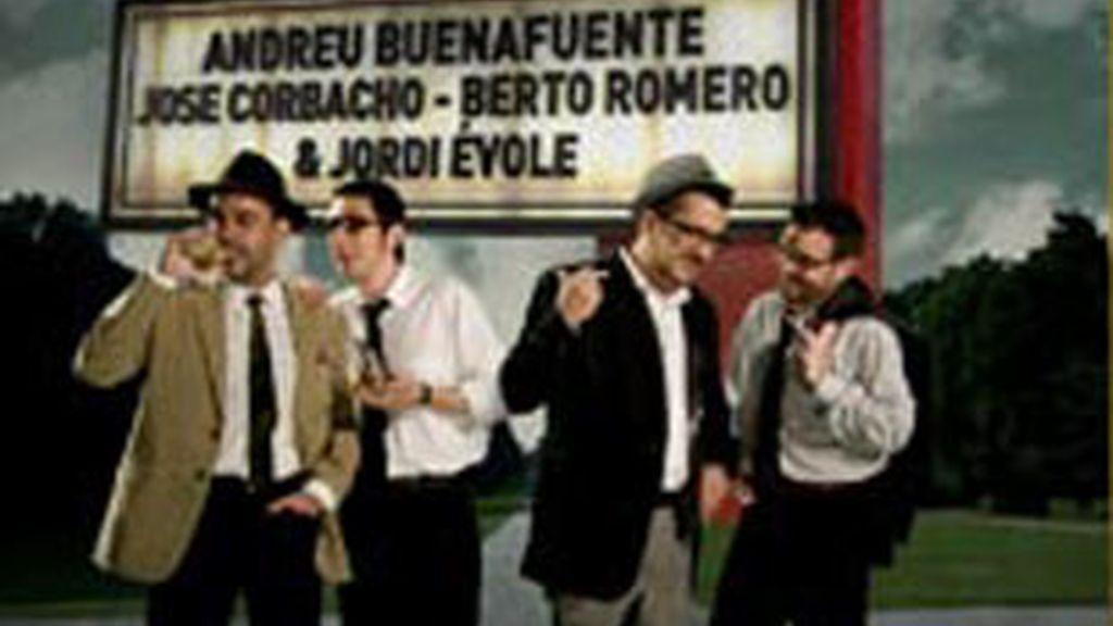 De izquierda a derecha, Corbacho, Berto, Buenafuente y Évole, protagonistas de Terrat Pack.