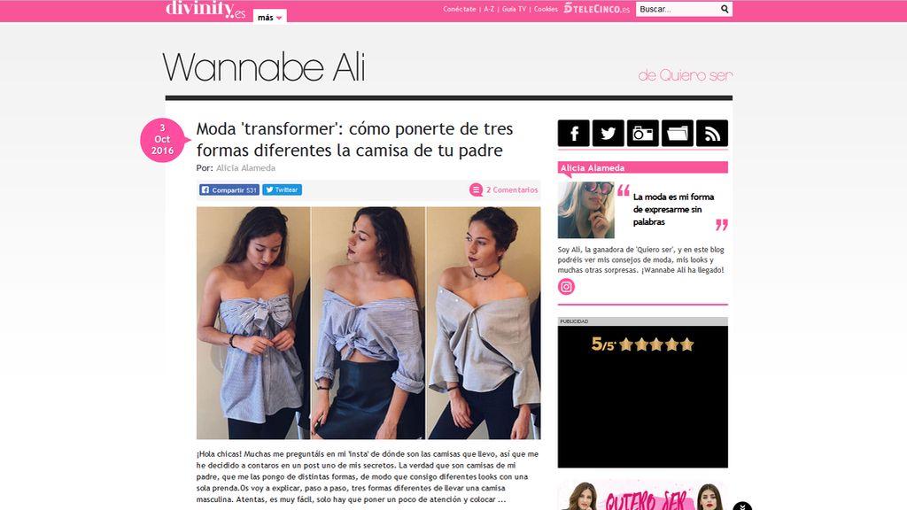 Blog Wannabe Ali (Ganadora 'Quiero ser')