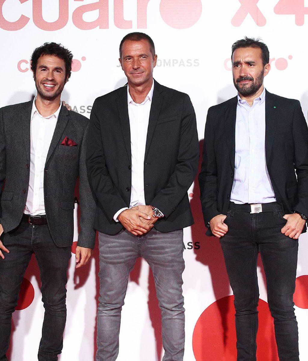 Luis García, Manu Carreño y Juanma Castaño