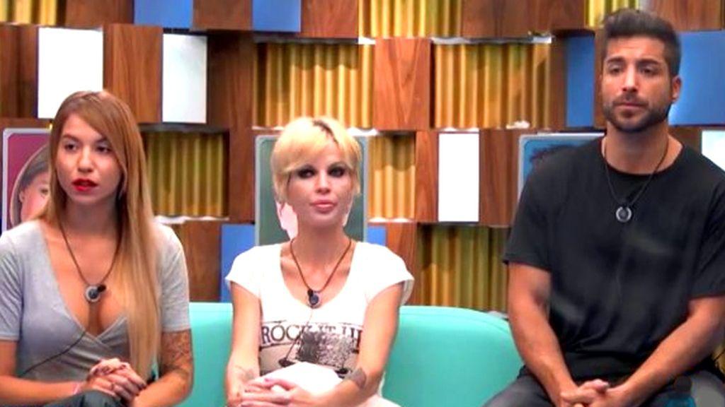 Rebeca, Bárbara y Alain GH 17