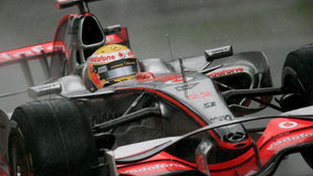 Hamilton en el GP Italia 2008.