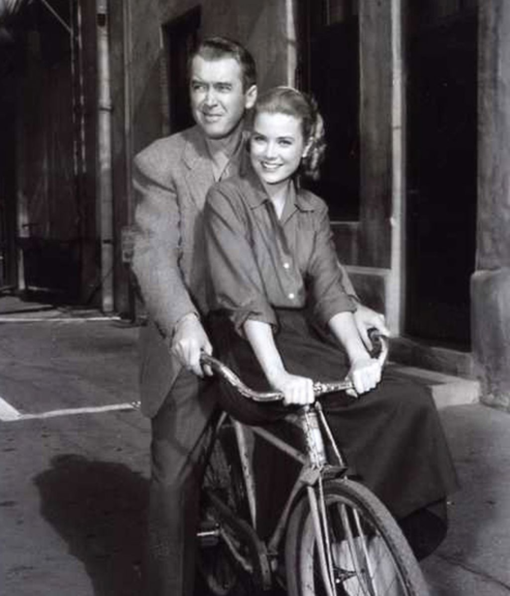 James Stewart y Grace Kelly
