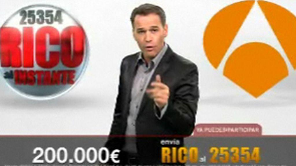 Carlos Lozano en 'Rico al instante' (Antena 3).