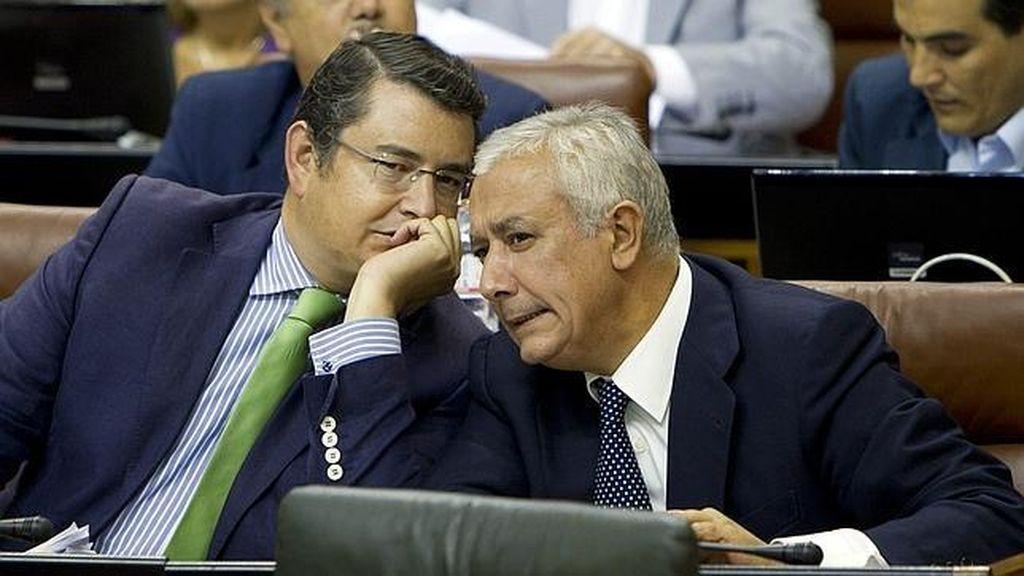 Javier Arenas y Antonio Sanz