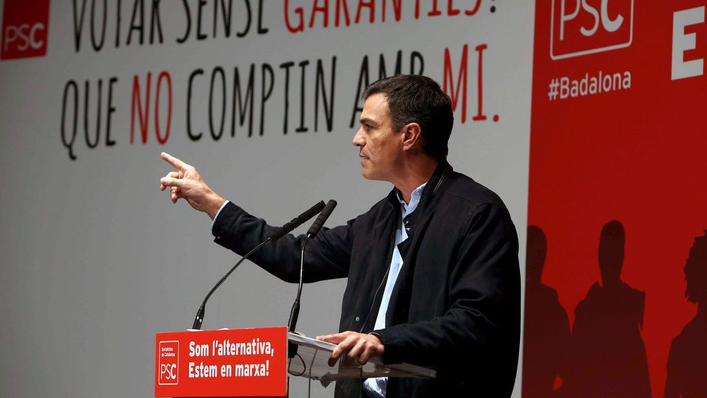 """Pedro Sánchez avisa de que el referéndum busca """"romper"""" España y no echar a Rajoy"""