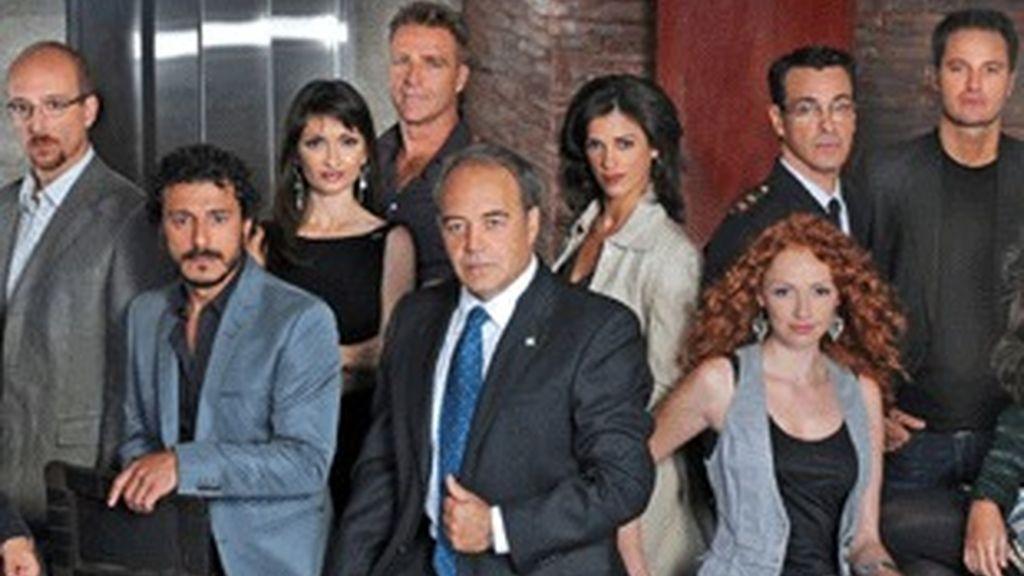 Personajes principales de 'El comisario'.