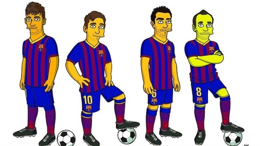 Neymar, Messi, Xavi e Iniesta