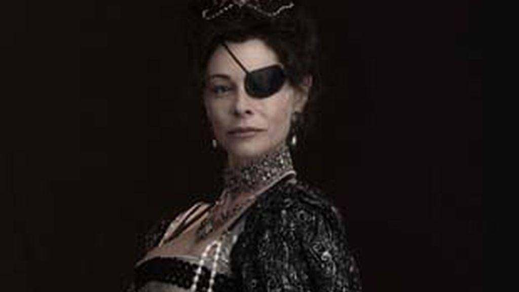 Belén Rueda, caracterizada como 'La princesa de Éboli'.