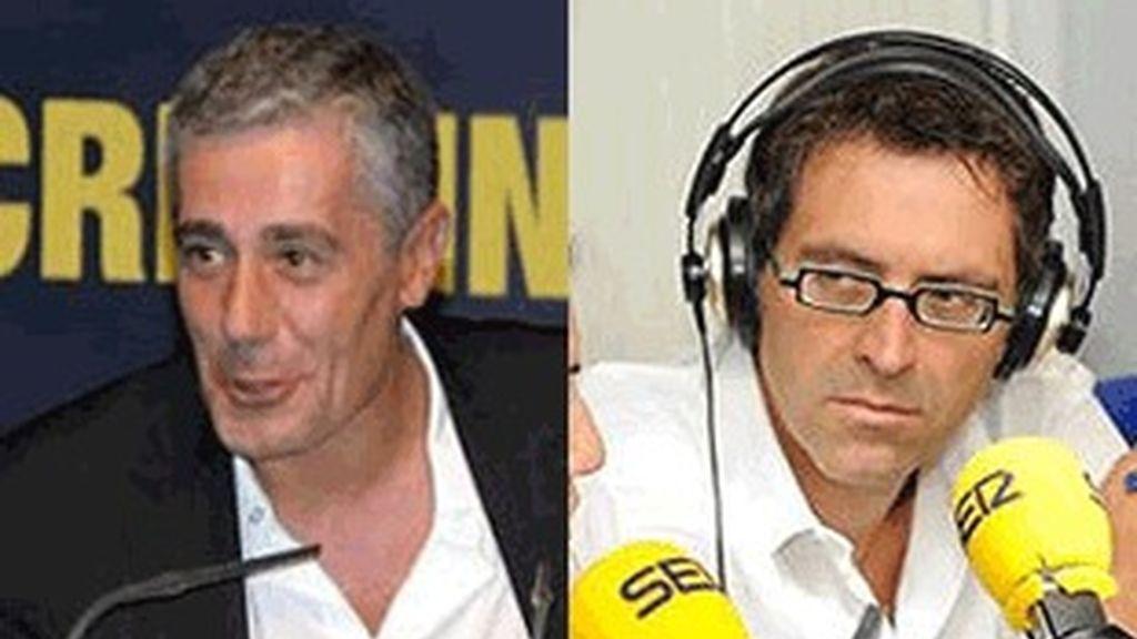 A la izquierda el director de la Ser, Daniel Anido, y el jefe de informativos de la cadena, Rodolfo Irago.