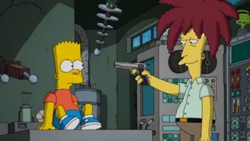Bart Simpson y actor secundario Bob
