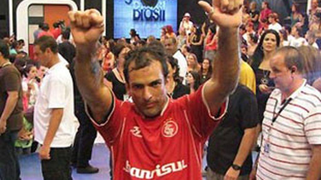 Marcelo Dourado, en la final de 'GH 10' en Brasil.