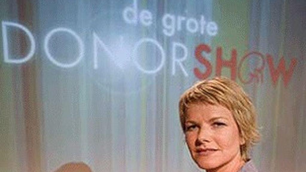 La actriz Leonie Gebbink, la supuesta enferma de 'El gran show del donante'.