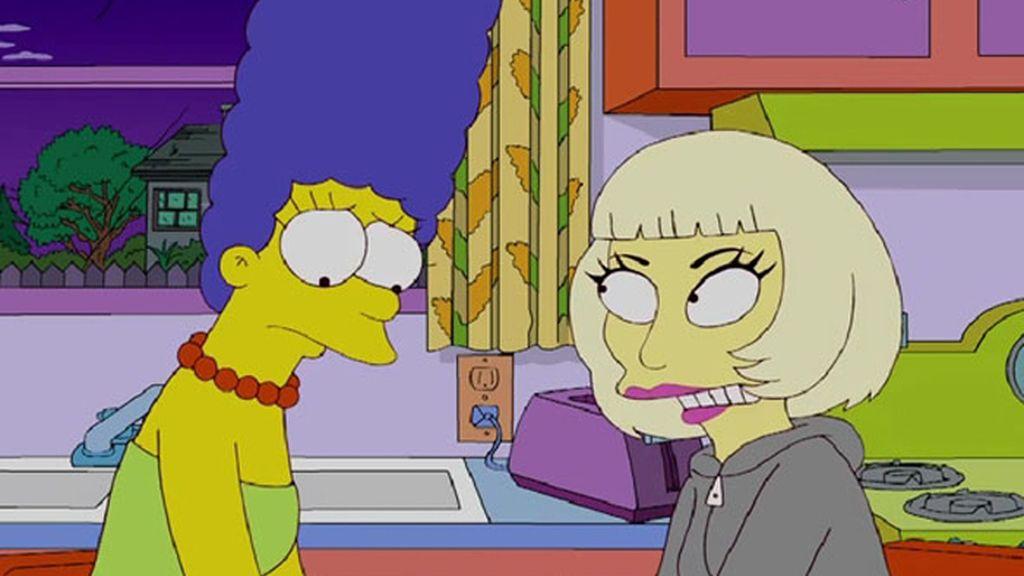 Lady Gaga, consuelo de Marge Simpson