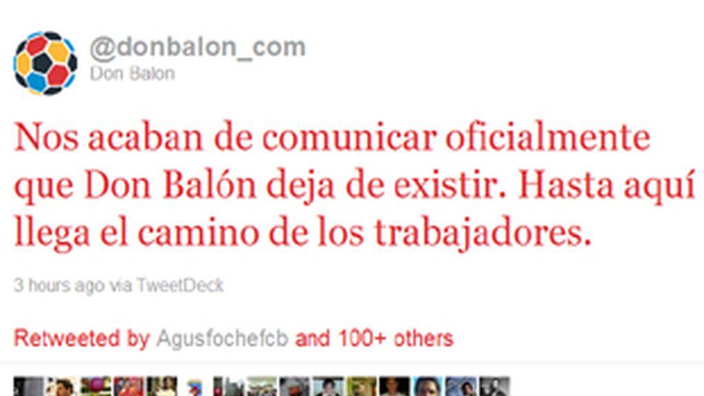 Imagen del Twitter oficial de 'Don Balón'.