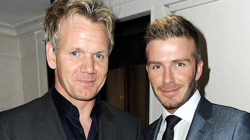 David Beckham y Gordon Ramsey